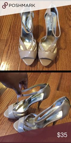Steve Madden heels Super cute Steve Madden patent leather heels   Size 8m   Open toe zip back   Cute for special occasions Steve Madden Shoes Heels