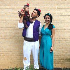 Idee für Familienkostüm - Aladdin, Jasmin und Abu