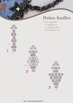 Ocanie Crations - small leaves schema. #seed #bead #tutorial