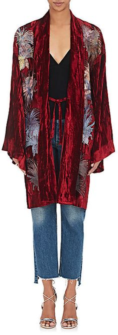 Alice Archer Women's Embroidered Crushed Velvet Kimono Robe   https://api.shopstyle.com/action/apiVisitRetailer?id=621339306&pid=uid2500-37484350-28