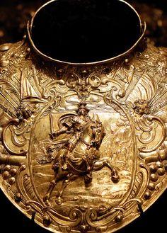 Under the Aegis of Mars, Louis XIII's golden gorget (details), c-1630