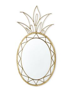 "Jt Rose & Company 24"" Pineapple Mirror"