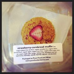 Strawberry cornbread muffins. #raw #glutenfree #vegan #organic #mynewfavorite