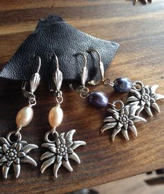 Edelweiss Earrings with Freshwater Pearls