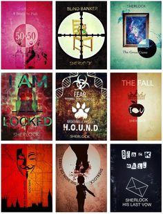 Sherlock Episode posters