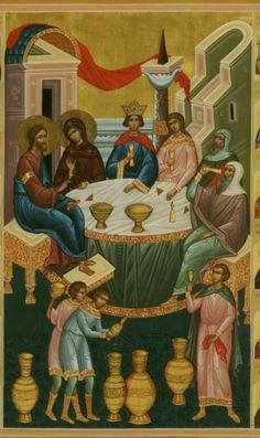 Wedding Icon, Cherub, Old World, Catholic, Mystery, Mosaic, Spirituality, Heaven, Painting