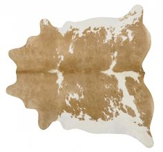Palomino & White Brazilian Cowhide Rug (Large)