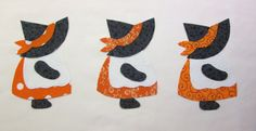 Set of 3 Iron-on 6 Tall Sunbonnet Sue Halloween by MarsyesShoppe