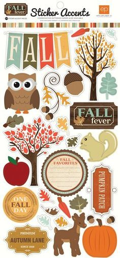 Echo Park - Fall Fever Collection - Cardstock Stickers at Scrapbook.com