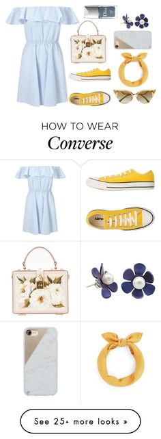 """Untitled #376"" by amandapanda041 on Polyvore featuring Miss Selfridge, Converse, Dolce&Gabbana, Fendi, Native Union and Christian Dior"