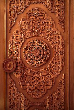 Gorgeous hand carved door