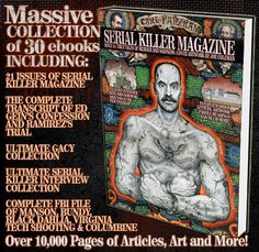 SERIAL KILLER CALENDAR - SERIAL KILLER TRADING CARDS- SERIAL KILLER MAGAZINE - SERIAL KILLER DVDS - MURDERABILLIA