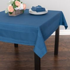 54 in. Square Polyester Tablecloth White