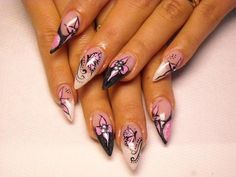 nail art pointed - Google Search