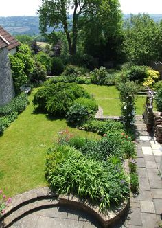 Church Cottage garden from the bedroom
