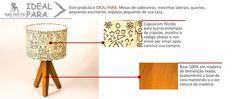 (3) Abajur Tripe Luminaria Em Madeira De Demolição Com Cupula - R$ 197,89 no MercadoLivre