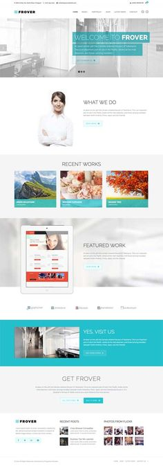 Frover - Muti-Purpose WordPress Theme #businesswordpressthemes #responsivedesign #wpthemes #html5 #wordpressthemes2014