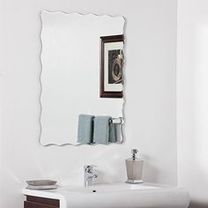 Aggressive ??????????? Vintage Art Deco Frameless Bevelled Edge Mirror ???????? Antiques