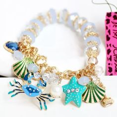 Betsey Johnson sea bracelet Gorgeous BJ sea stretchy bracelet. Never been worn. Brand new with tags. Betsey Johnson Jewelry Bracelets