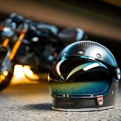 "Ossa Copa 250 Cafe Racer ""Grand Prix"" by Racer Dreams Cream Motorcycles Cool Bike Helmets, Custom Motorcycle Helmets, Custom Helmets, Cafe Racer Motorcycle, Motorcycle Style, Motorcycle Gear, Chopper Helmets, Carbon Fiber Motorcycle Helmet, Casque Bell"