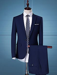 Men's Work Casual Street chic Spring Fall Suit – USD $ 59.99