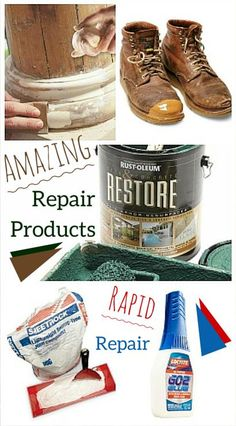 Amazing Repair Products: Sometimes all it takes is the right product to make a quick and easy fix. http://www.familyhandyman.com/smart-homeowner/diy-home-improvement/amazing-repair-products