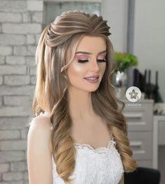 Open Hairstyles, Plaits Hairstyles, Braided Hairstyles Tutorials, Bride Hairstyles, Bridal Hair Down, Bridal Hair Buns, Hairdo Wedding, Long Hair Wedding Styles, Front Hair Styles