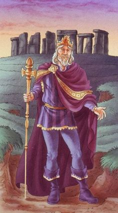 King of Wands by Antonella Platano (Tarot of the 78 Doors)