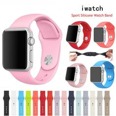 Sports Silicone Bracelet Strap Wrist Band Replacements For Apple Watch Iwatch