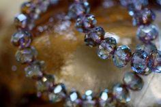#Aqua and #Gold #Czech #Glass #Beads by BeadyEyedBird on Etsy