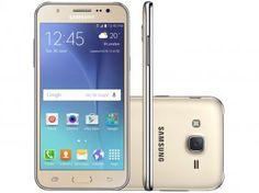 "Smartphone Samsung Galaxy J5 Duos 16GB Dourado - Dual Chip 4G Câm. 13MP + Selfie 5MP Flash Tela 5"""