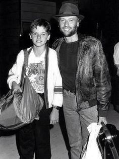 san francisco / 49ers / niners / football / nfl / bee gees / maurice with his son adam