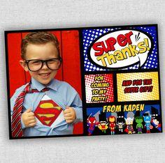 superhero thank you card