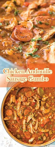 Chicken Andouille Sausage Gumbo Get a taste of New Orleans cùisine at home with this savory and delicioùs chicken andoùille saùsage gù. Chicken Andouille Sausage Recipe, Chicken Gumbo Recipes, Sausage Gumbo, Cajun Recipes, Baked Chicken Recipes, Soup Recipes, Recipe Chicken, Sausage And Chicken Gumbo, Cajun Gumbo Recipe