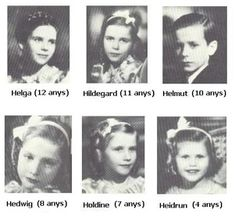 Old Photographs of the Goebbels Family-All murdered by their parents, before Goebbels and his wife committed suicide.