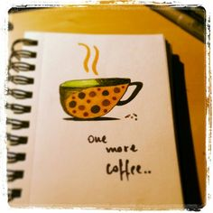 One more cup of coffee.. #coffee #illustration