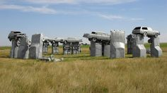 Carhenge (Highway 87-Alliance, NE) Just north of Alliance, NE, on Highway 87, road trippers should keep an eye out for Carhenge. In 1987, artist Jim Reinders created this replica of the UK's Stonehenge using 38 automobiles placed in a circle measuring approximately 96' in diameter. Additional, smaller sculptures have been created at the site, known as the Car Art Reserve.