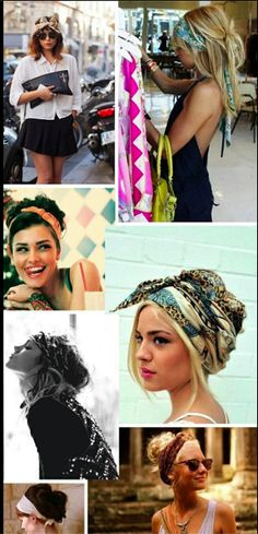 Beach Hairstyles with colorful scarves