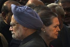 Indian Prime Minister Manmohan Singh, left, and Congress party President Sonia Gandhi attend a function to mark the tenth anniversary of the parliament attack in New Delhi. (AP)
