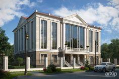 Частный особняк в г. Белгород.: архитектура, жилье, 3 эт | 9м, 500 - 1000 м2, каркас - ж/б, коттедж, особняк, классицизм #architecture #housing #3floors_9m #500_1000m2 #frame_ironconcrete #cottage #mansion #classicism arXip.com
