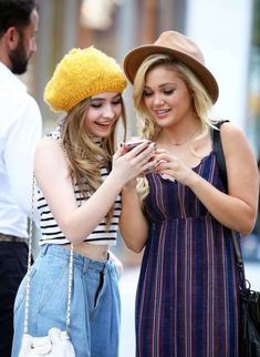 Gymnastics and More!: Sabrina Carpenter and Olivia Holt out in NY Disney Cast, Old Disney, Olivia Holt, Disney Channel Stars, Disney Stars, Sabrina Carpenter, Laura Marano, Rowan Blanchard, Girl Meets World