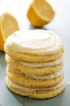 LEMON SUGAR COOKIES – A SWEET & SLIGHTLY TART TWIST ON YOUR CLASSIC SUGAR COOKIE. THESE SOFT & CHEWY LEMON COOKIES WILL SOON BECOME A COOKIE JAR FAVORITE. My husband loves anything with lemon or lime, especially drinks & cookies. I was inspired by his favorite pie, Best Key Lime Pie a few years back …