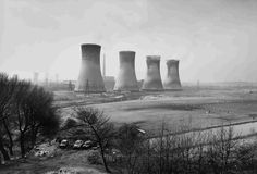 """Agecroft Power Station, Salford, 1983, John Davies. Davis explains in his book, The British Landscape, about the urban landscapes. """"We are collectively responsible for shaping the landscape we occupy and in turn the landscape shapes us whether we are aware of it or not."""" And I agree."""