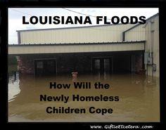 Louisiana Flood How Will the Children Cope; Over Homeless in Louisiana Planner Organization, Pjs, Louisiana, University, Money, Education, Inspired, Children, Link