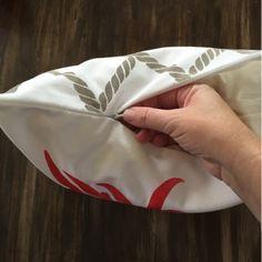 Stenciling a DIY accent pillow using the Chrysanthemum Paint-A-Pillow. http://paintapillow.com/index.php/chrysanthemum-paint-a-pillow-kit.html