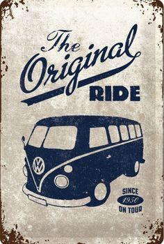 Volkswagen Bus Discover Nostalgic Art VW Bulli The Original Ride 1950 20 x 30 cm Blechschild Nostalgic Art VW Bulli The Original Ride 1950 20 x 30 cm Blechschild Volkswagen Polo, Volkswagen Transporter, Vw Bus, Vw Camper, Piaggio Vespa, Retro Bus, Vw Vintage, Vintage Travel, Vintage Ideas