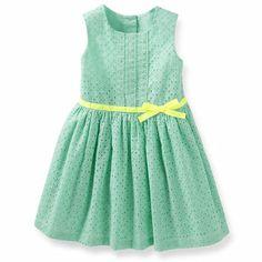 Cotton Eyelet Dress:  possible flower girl dress?