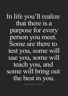 purpose for every person you meet...