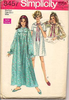 30876c584c Ladies Nightgown Pattern Retro Fashion by TexasTangledThreads