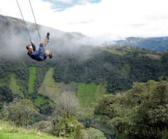 Are you brave enough to swing off the edge of a cliff?